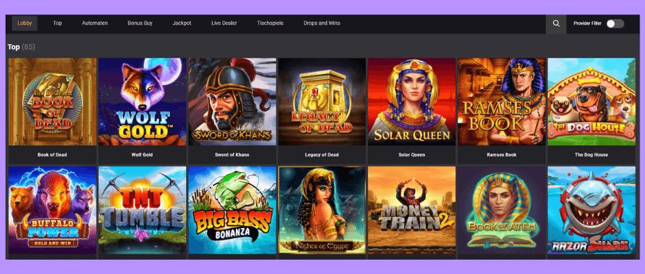Das Ist online casino lobby